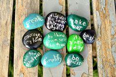 DIY Message Stone Favors