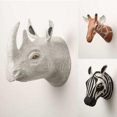 Say Hi! To Design: Paper Mache Animal Trophies