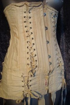 """1900-1920's H&W maternity corset"" - imagine, having to wear a corset while pregnant!!!"