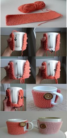 cup cozy tutorial...been looking for one of these