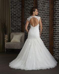 Open back wedding dress with sweetheart neckline 309 - Bonny - Collections | Bonny Bridal