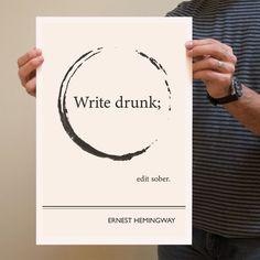 Circle Hemingway Poster