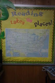Reading Takes Us Places... keeping track of where the setting of books take place