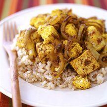Roasted Cauliflower and Tofu Curry WW