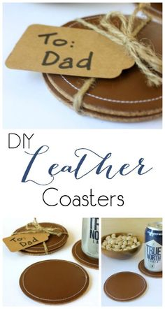 DIY Leather Coasters