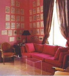 david hick, pink room