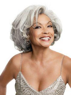 AMAZING hair! grey hair, gray hair, ageless beauti, style, long hair, silver foxes, hair care, age grace, beauti gray