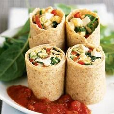 Egg and Vegetable Wraps