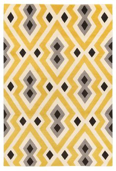 Syrie Yellow by Jonathan Adler | Wool Contemporary rugs