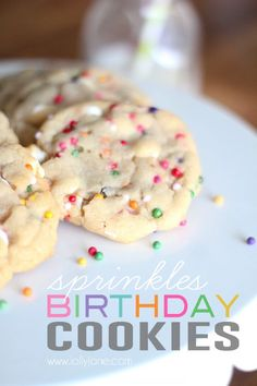 Sprinkles Birthday Cookies. Cute and perfect for any birthday occasion!