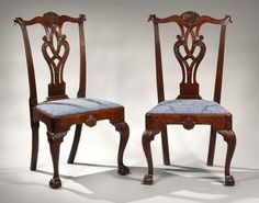 Benjamin Franklin Chippendale side chairs, Philadelphia, Pennsylvania, circa 1765