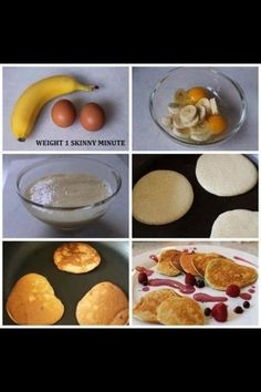 Healthy pancakes made with bananas and eggs!