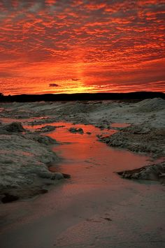 Febuary Sunset by GLASman1, via Flickr; Good Harbor, Michigan