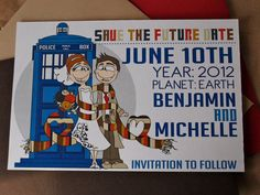 Dr Who Inspired Save the Dates  DIY Printable PDF by littletoad, $15.00