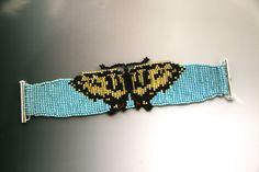 Tiger Swallowtail Butterfly Loomed Bracelet