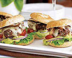 Porcini-Gorgonzola Burgers with Veal Demi-Glacé