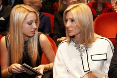 ready4royalty:  The Greek Royal Family attended a documentary of King Paul in commemoration of the 50th anniversary of his death, March 5, 2014-Princess Maria Olympia with her mother Maria Chantal