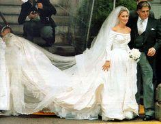Wedding of Alexandra Miller (with father Robert Miller) to Prince Alexander von Furstenberg 1995