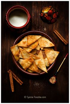 Cinnamon Sugar Tortilla Chips | #cornchips #healthyrecipes #Mexican #CincoDeMayo