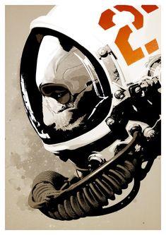 Astro Bear by hiddenmoves #panda #space #astronaut #hiddenmoves