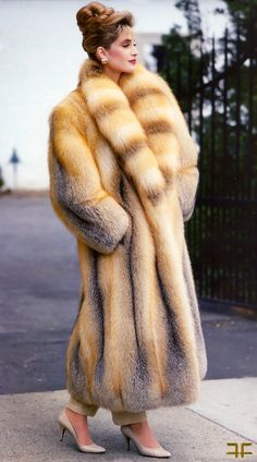 Awesome Red Fox Fur Coat