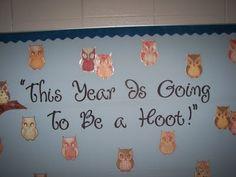 A Scraphappy Southernbelle: A Cricut Classroom. Such cute owl decorations.