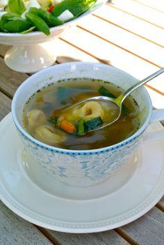 snelle tortellini soep