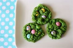 eggs-in-grass cookies