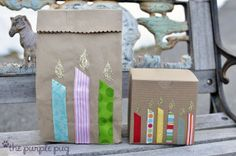 The Purple Pug: Ribbon Scrap Candles~Super quick, easy and cute tute!