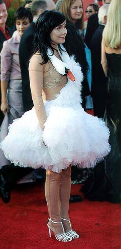 Bjork swan dress... kidding! (sort of).