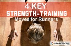 The Best Strength Training Exercises for Runners: A solid strength training program can help runners perform better and lower the risk of injury. Here are some of the moves every runner should include as part of their strength-training program.   via @SparkPeople #fitness #running
