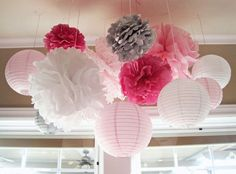 Pink and Grey Sugar and Spice Butterfly Girl Baby Shower