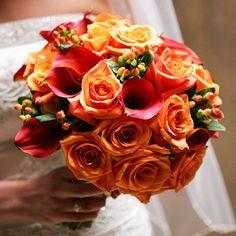 Orange bouquet..more towards my colors..