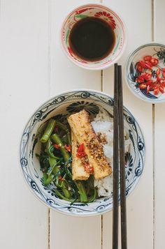 Lemongrass tofu with chilli kang kong | My Darling Lemon Thyme