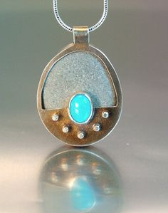 BEACH STONE  -REVERSIBLE PENDANT by MELODY ARMSTRONG, via Flickr