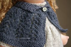 """this lace capelet is not difficult to make. it's perfect for a lace beginner. it fits very well 15-17"""" waldorf dolls, and probably american girl dolls."""
