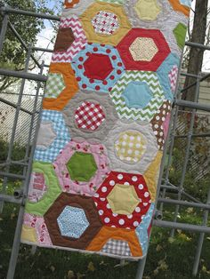 Bee in my Bonnet Hexie Half Ruler...and free Honeycomb quilt pattern!!! ^