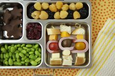 Sandwich on a stick Bento lunches for kids idea...For more ideas for school lunches visit http://school-lunch-ideas.net