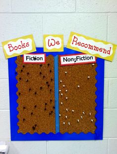 reading bulletin board - books we recommend