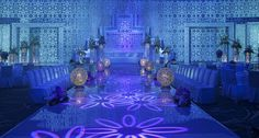 Jumeirah at Etihad Towers Hotel, Abu Dhabi - Honeymoon Destinations - Mezzoon Ballroom Wedding Setup Decorative