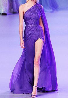 Elie Saab Paris Fashion Week 2014 - PURPLE / LAVENDER