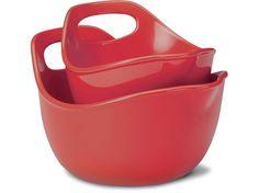 2pc, mixing bowls, bowl set, red, mix bowl, futur kitchen, dream kitchen, stonewar mix, rachael ray