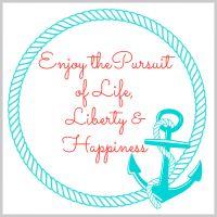 Enjoy the pursuit of life liberty and happiness - Free Printable @ Fresh Idea Studio.com