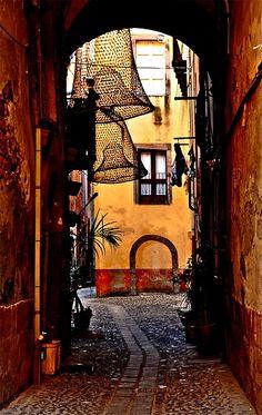 Street Arch, Bosa, Sardinia, Italy
