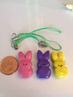 Polymer Sculpey Clay Charms Easter Bunny Set