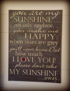 You Are My Sunshine  18 x 24 canvas by RedHenHome on Etsy, $42.00