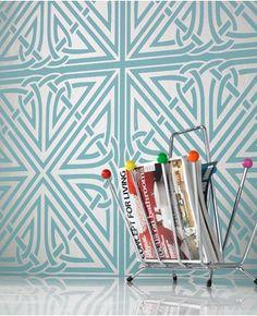 """Viva"" wallpaper by Barbara Hulanicki. I like it though I prefer her ""Hula"" wallpaper."