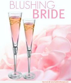 the blushing bride | The perfect cocktail for a bridal shower or bachelorette party and it is super simple to make!    1 oz peach schnapps  1 oz grenadine  4 oz Champagne    Directions:        Pour the peach schnapps and grenadine into a Champagne flute.      Top with Champagne.