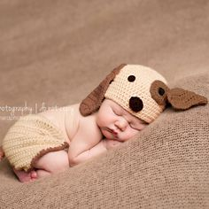 I found this on melondipity.com little puppies, dogs, diapers, newborn photo, baby boys, babi boy, baby hats, photo idea, diaper covers