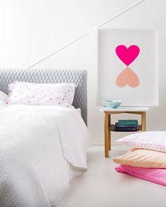 Pillowcases and heart print | Rachel Castle.